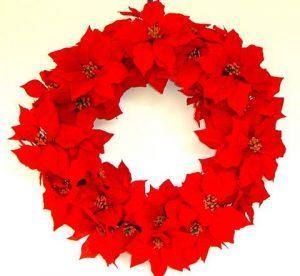 poinsettia wreath holiday